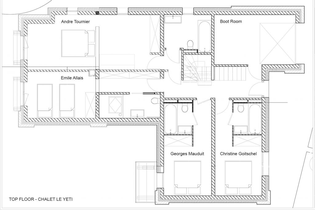 Chalet Le Yeti Floor Plans
